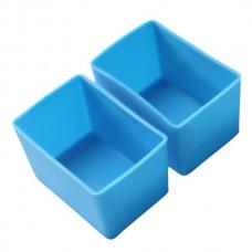 Munchbox: Munch Cups - Blue Rectangle (2 pieces)