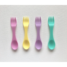 Munchbox: Utensil Spoon and Fork - Pastel (8 piece set)