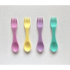 Munchbox: Utensil Spoon and Fork - Pastel (8 piece set)