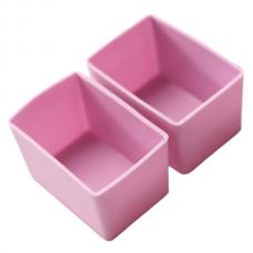 Munchbox: Munch Cups - Pink Rectangle (2 pieces)