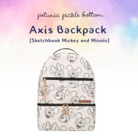 Petunia Pickle Bottom: Axis Backpack - Sketchbook Mickey and Minnie