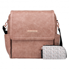 Petunia Pickle Bottom: Boxy Backpack - Dusty Rose Leatherette