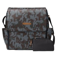 PPB - Boxy Backpack in Camo Leatherette