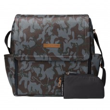 Petunia Pickle Bottom: Boxy Backpack - Camo Leatherette