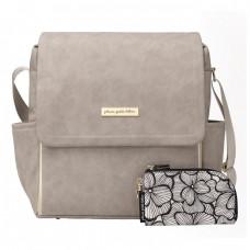 Petunia Pickle Bottom: Boxy Backpack - Grey Matte Leatherette