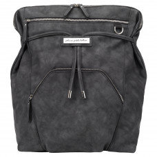 Petunia Pickle Bottom: Cinch Backpack - Midnight Leatherette