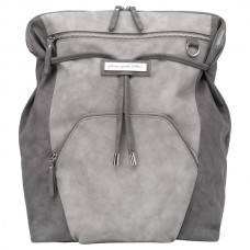 Petunia Pickle Bottom: Cinch Backpack - Pewter Leatherette