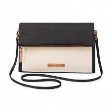 Petunia Pickle Bottom: Crossover Clutch - Birch/Black