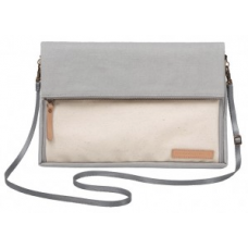 Petunia Pickle Bottom: Crossover Clutch - Birch/Stone