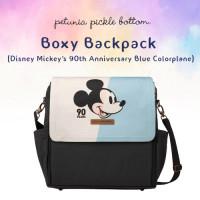 Petunia Pickle Bottom: Boxy Backpack - Disney Mickey's 90th Anniversary Blue Colorplane