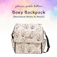 Petunia Pickle Bottom: Boxy Backpack - Sketchbook Mickey & Minnie