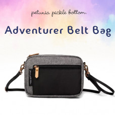Petunia Pickle Bottom: Adventurer Belt Bag - Graphite/Black