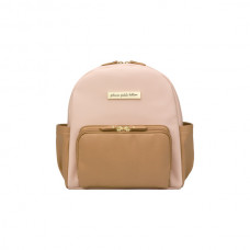 Petunia Pickle Bottom: Mini Backpack - Blush/Caramel Leatherette