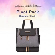 Petunia Pickle Bottom: Pivot Pack - Graphite/Black