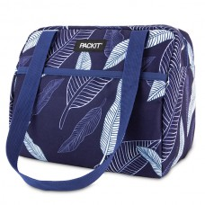PackIT Hampton Lunch Bag - Navy Leaves