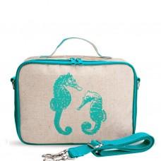 SoYoung LunchBox Bag - Aqua Seahorses