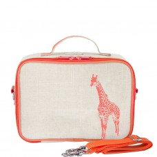 SoYoung - LunchBox Bag - Neon Orange Giraffe