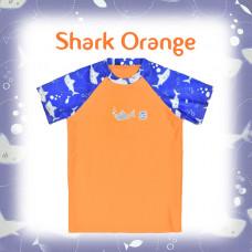 Splashabout: Short Sleeves Rash Top - Shark Orange