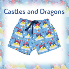 Splashabout: Board Shorts - Castles and Dragons