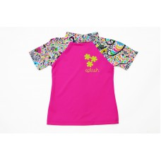 Splashabout: UV Rash Top (Short Sleeves) in L'Histoire De Birdy - 6-12mth