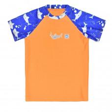 Splashabout: UV Rash Top (Short Sleeves) in Shark Orange - 1-2yrs