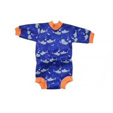 Splashabout Happy Nappy Wetsuit - Shark Orange M 3-8mths