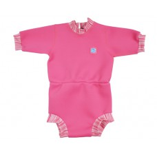 Splashabout Happy Nappy Wetsuit - Pink Candy Stripe L 6-14mths