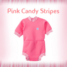 Splashabout: Happy Nappy Wetsuit - Pink Candy Stripes