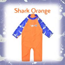 Splashabout: Toddler UV Sunsuit - Shark Orange