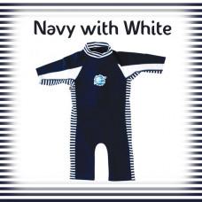 Splashabout: UV Combi Wetsuit - Navy with White