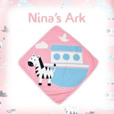 Splashabout: Baby Hooded Towel - Nina's Ark