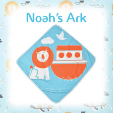 Splashabout: Baby Hooded Towel - Noah's Ark
