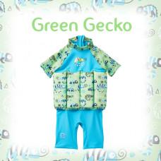 Splashabout: UV Float Suit - Green Gecko