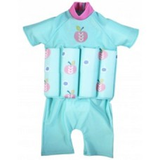 Splashabout: UV Float Suit in Apple Daisy (zip) - 4-6yrs