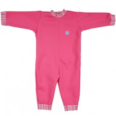 Splashabout: Warm In One in Pink Candy Stripe - M 3-6mth