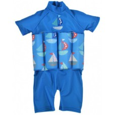 Splashabout: UV Float Suit in Set Sail (zip) - 4-6yrs