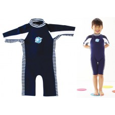 Splashabout: UV Combi Wetsuit in Navy with White - 1-2yrs