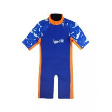 Splashabout: UV Combi Wetsuit in Shark Orange - 1-2yrs