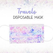 Enchanté: Disposable Face Masks - Travels