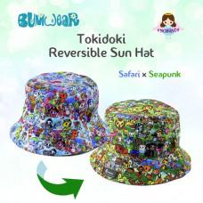 Enchanté: Reversible Bucket Hat - Safari
