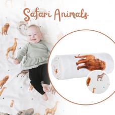 Tula: Cuddle Me Blanket - Safari Animals (arriving last week of Oct)