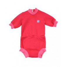 Splashabout: Happy Nappy Wetsuit in Geranium Pink - XL 1-2yrs
