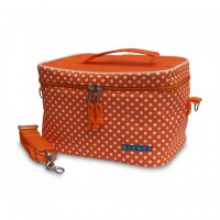 Yumbox - Cooler Bag - Orange w White Pokka Dots