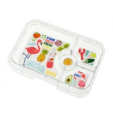 Yumbox Tapas Tray 4-Compartments - Flamingo