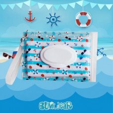 Zwipey: Wet Wipes Pouch - Sailor Ahoy