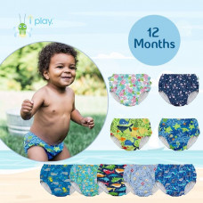 iPlay: 12 months Pull Up Reusable Absorbent Swim Diaper